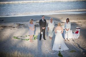 bride's arrival at Pauanui beach.jpg